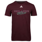 Adidas Climalite Maroon Ultimate Performance Tee-Chico State Wildcats Flat Version