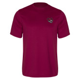 Performance Maroon Tee-Wildcat Head