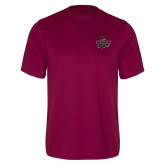 Performance Maroon Tee-Wildcat Head Chico State