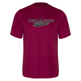Performance Maroon Tee-Chico State Wildcats Flat Version