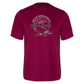Performance Maroon Tee-100 Years of Chico State Basketball