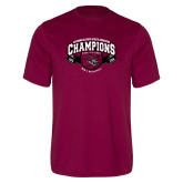 Performance Maroon Tee-Back-to-Back CCAA Champions Mens Basketball