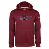 Under Armour Maroon Performance Sweats Team Hood-Chico State Wildcats Flat Version