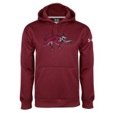 Under Armour Maroon Performance Sweats Team Hood-Wildcat Full Body