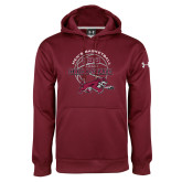Under Armour Maroon Performance Sweats Team Hoodie-100 Years of Chico State Basketball