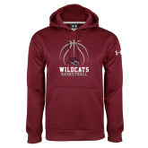 Under Armour Maroon Performance Sweats Team Hoodie-Basketball Full Ball