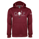 Under Armour Maroon Performance Sweats Team Hoodie-Golf With Ball