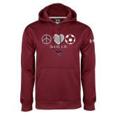 Under Armour Maroon Performance Sweats Team Hoodie-Soccer Just Kick It