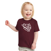 Toddler Maroon T Shirt-Wildcat Head
