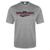 Performance Grey Heather Contender Tee-Chico State Wildcats Flat Version