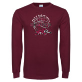 Maroon Long Sleeve T Shirt-100 Years of Chico State Basketball