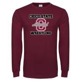 Maroon Long Sleeve T Shirt-Vintage Alumni Wrestling