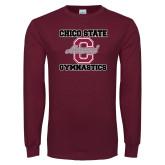 Maroon Long Sleeve T Shirt-Vintage Alumni Gymnastics