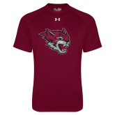 Under Armour Maroon Tech Tee-Wildcat Head