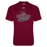 Under Armour Maroon Tech Tee-Wildcat Head Chico State
