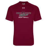 Under Armour Maroon Tech Tee-Softball