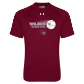 Under Armour Maroon Tech Tee-Baseball Ball