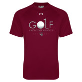 Under Armour Maroon Tech Tee-Golf With Ball