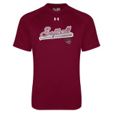 Under Armour Maroon Tech Tee-Softball Script