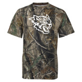 Realtree Camo T Shirt-Wildcat Head