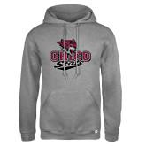 Russell DriPower Grey Fleece Hoodie-Wildcat Head Chico State
