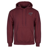 Maroon Fleece Hoodie-Cats w/Wildcat Head
