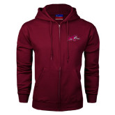 Champion Maroon Fleece Full Zip Hood-Wildcat Full Body