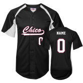 Replica Black Adult Softball Jersey-Personalized