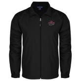 Full Zip Black Wind Jacket-Wildcat Head Chico State