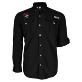Columbia Bahama II Black Long Sleeve Shirt-Wildcat Head