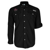 Columbia Bahama II Black Long Sleeve Shirt-Wildcat Head Chico State