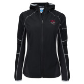 Columbia Ladies Sweet As Black Hooded Jacket-Wildcat Head