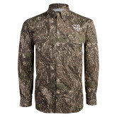 Camo Long Sleeve Performance Fishing Shirt-Wildcat Head