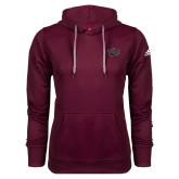 Adidas Climawarm Maroon Team Issue Hoodie-Wildcat Head Chico State
