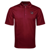 Maroon Mini Stripe Polo-Wildcat Head