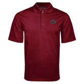 Maroon Mini Stripe Polo-Wildcat Head Chico State