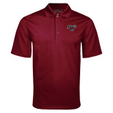 Maroon Mini Stripe Polo-Cats w/Wildcat Head