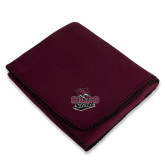 Maroon Arctic Fleece Blanket-Wildcat Head Chico State