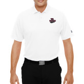 Under Armour White Performance Polo-Wildcat Head Chico State