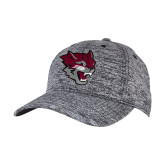 PosiCharge Black/White Electric Heather Snapback Hat-Wildcat Head