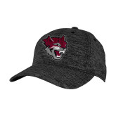 PosiCharge Charcoal/Black Electric Heather Snapback Hat-Wildcat Head