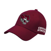 Maroon Heavyweight Twill Pro Style Hat-Wildcat Head