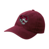 Maroon Flexfit Mid Profile Hat-Wildcat Head