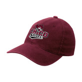 Maroon Flexfit Mid Profile Hat-Wildcat Head Chico State