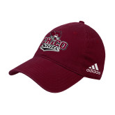 Adidas Maroon Slouch Unstructured Low Profile Hat-Wildcat Head Chico State