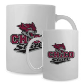 Full Color White Mug 15oz-Wildcat Head Chico State