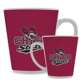 Full Color Latte Mug 12oz-Wildcat Head Chico State