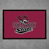 Full Color Indoor Floor Mat-Wildcat Head Chico State