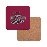 Hardboard Coaster w/Cork Backing-Wildcat Head Chico State
