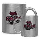 Full Color Silver Metallic Mug 11oz-Wildcat Head Chico State
